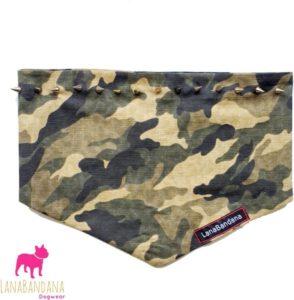 legerprint army bandana sjaal hond