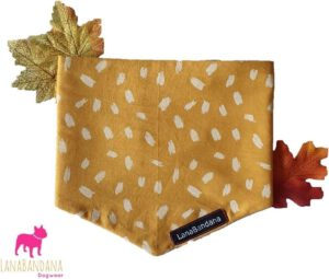 leuke mooie bandana hond oker geel shawl sjaal