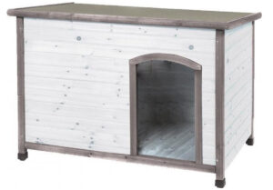 Hondenhok-hout-grijs-duvo