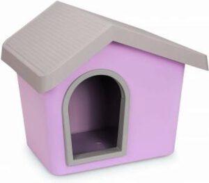 roze hondenhok kleine hond