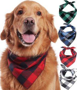 kerst bandana gekleurd hond